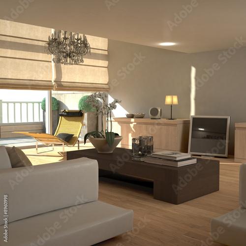 Elegant beige interior (sunny)