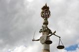 Symbole de la justice épée et balance. Brésil. poster