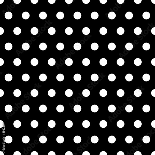 Black and White Dots Background - 8962384
