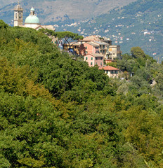 villaggio di campagna in liguria