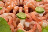 Gourmet large shrimp cocktail poster