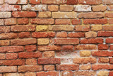 grungy red and yelow bricked wall, fantastic for backgrounds poster