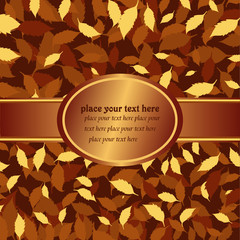 vector illustration- banner with autumn leaves