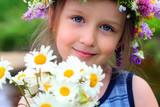 Fototapety girl in the wreath
