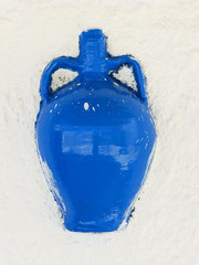Blue Pottery decoration on wall