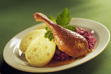 Roast Duck, Red Cabbage and Dumplings poster