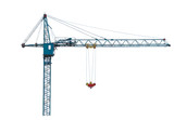 Building crane isolated on white.