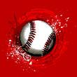 roleta: grunge baseball vector