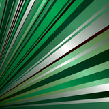 radiating abstract green and silver background with copy space poster