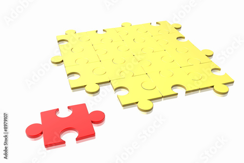puzzle concept isolated in white background.