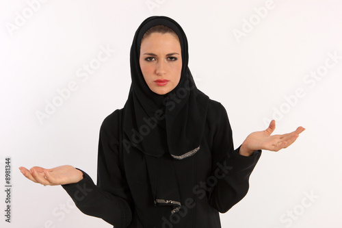 Arab Woman Having Trouble Understanding