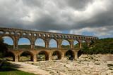 Roman aqueduct Pont du Gard in southern France poster
