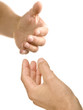 Helping hand reaching out to offer support