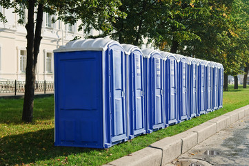 transportable public street toilet