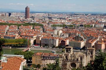 panorama de Lyon depuis la colline de Fourvière