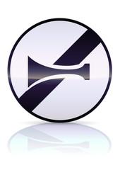 Fin d'interdiction de l'avertisseur sonore (reflet métal)