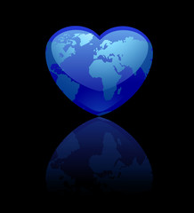 amour planete bleue coeur