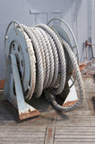 Coil of shipping rope. poster