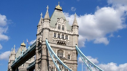Le haut de Tower Bridge, London