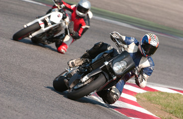 Moto in gara