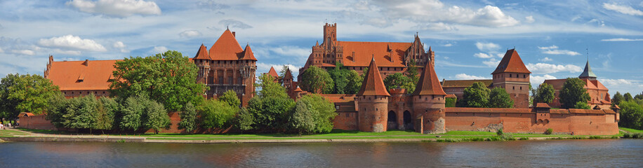 Old german castle in Malbork.