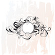 Circle Decorative Flourishes Ornament