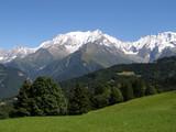 Mont Blanc vu des Communailles en été