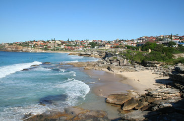 The view looking South towards Bronte from Tamarama