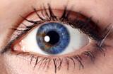 blue cyber eye poster