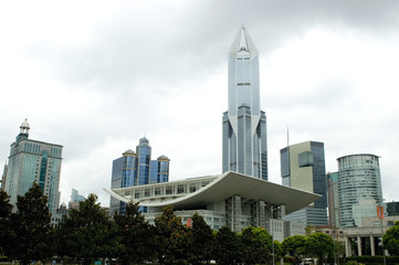 China, Shanghai city. Cityscape with modern skyscraper.
