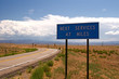 Highway directional signage on a remote stretch of interstate