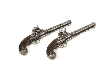two old-fashioned guns