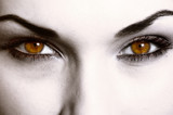Close up of evil look poster