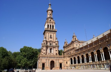 tower. plaza de espana, seville, spain