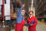 two inspectors in warehouse poster