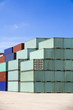 shipping cargo containers - freight containers in harbor