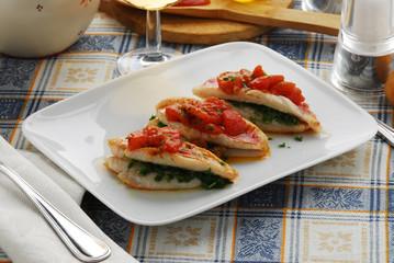 Trglie in rosso - Secondi pesce toscana