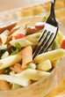 fresh colorful pasta in a bowl close up