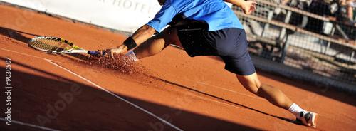 Leinwanddruck Bild Tennis slide