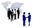international worker business team making a trade