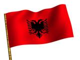 National Flag. Albania poster