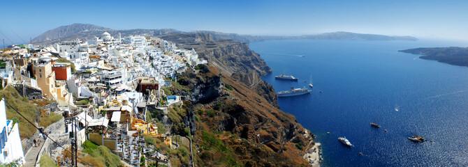 Panorama of Santorini Crete Greece