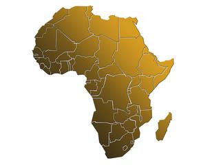 Carte Afrique Golden