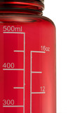 double scale in mililiters and fluid ounces on a drinking botte poster