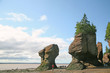 Hopewell Rocks,New Brunswick, Canada at low tide.