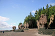 Hopewell Rocks, New Brunswick, Canada at low tide.