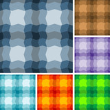 Big collection of seamless plaid patterns poster