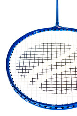 badminton racket on white