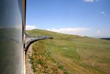 Le transsibérien dans la steppe mongole