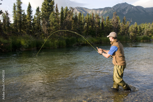 Plexiglas Vissen Salmon Fishing in Alaska